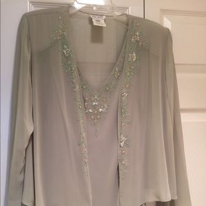 XSCAPE Long chiffon gown with jacket